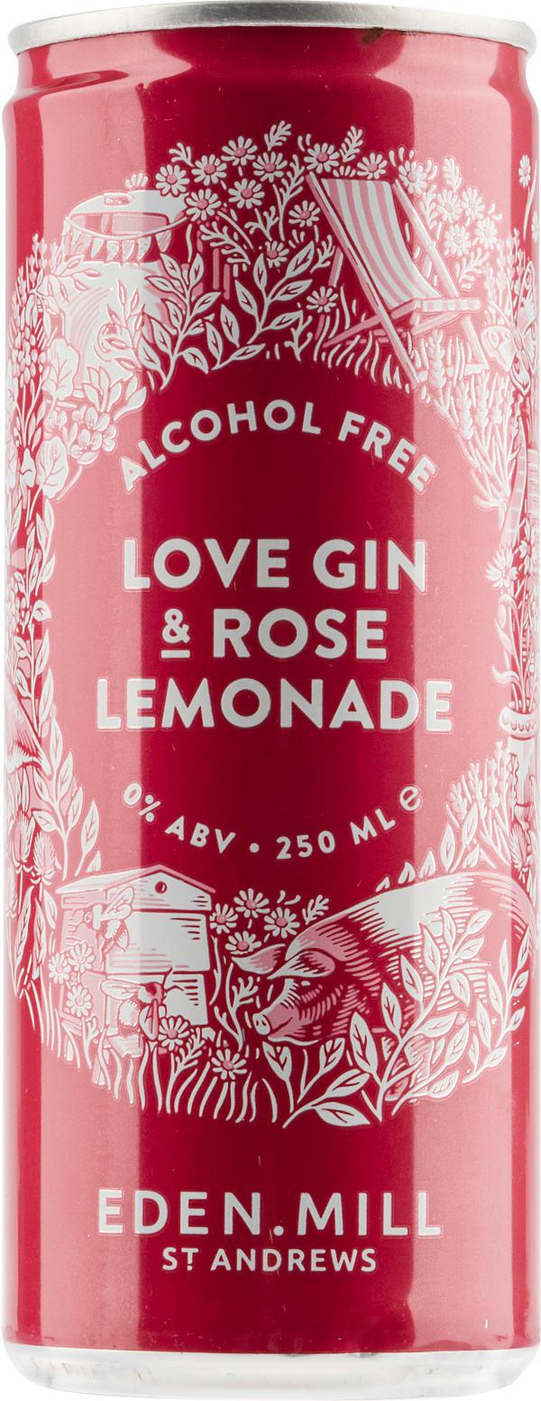 Eden Mill Love Gin & Rose Lemonade Mocktail burk