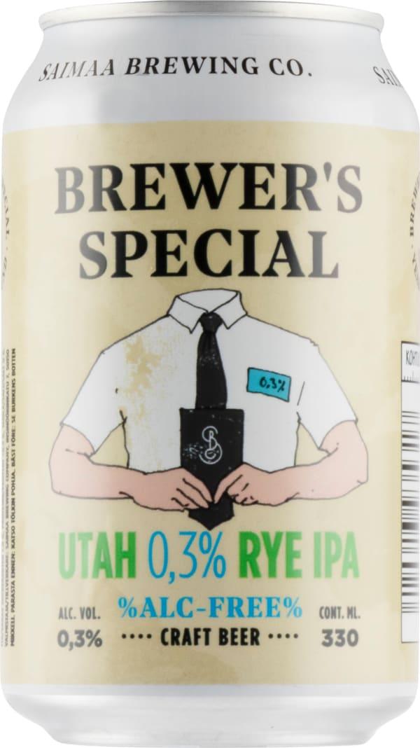 Saimaa Brewer's Special Utah 0,3% Rye Ipa can