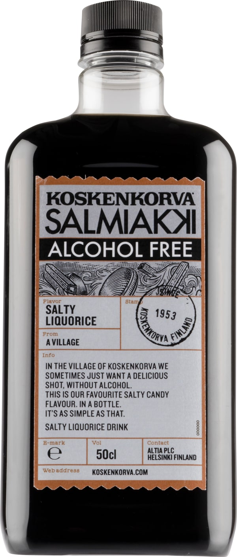 Koskenkorva Salmiakki Alcohol Free muovipullo
