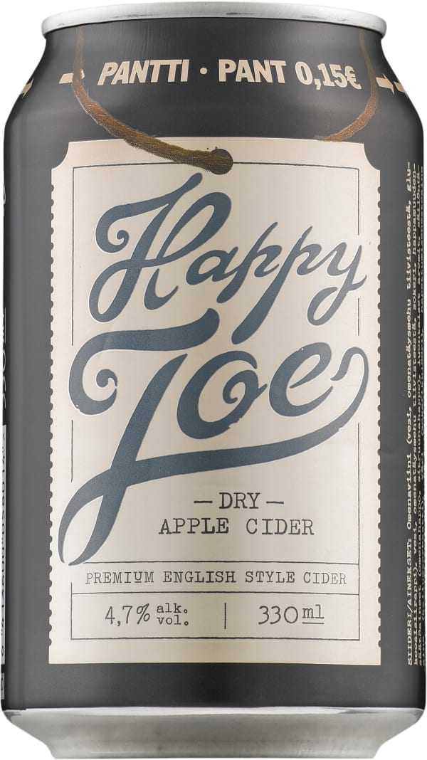 Happy Joe Dry Apple Cider can