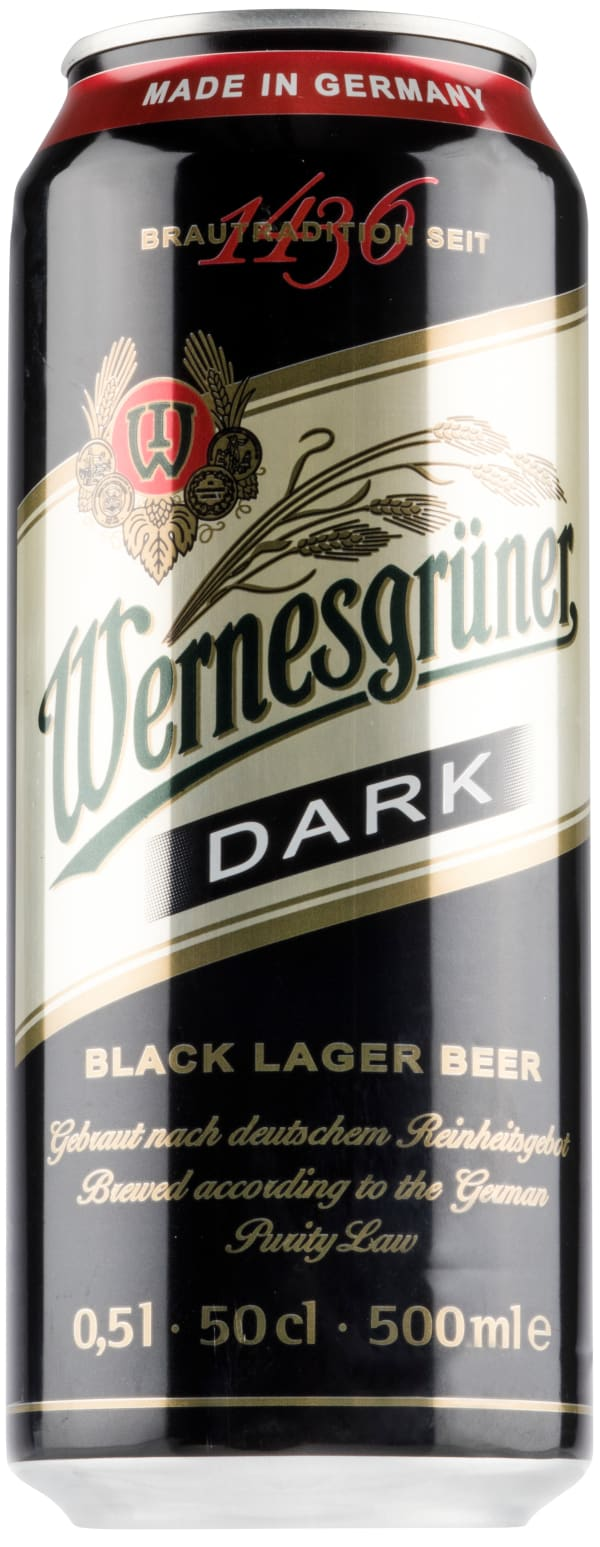 Wernesgrüner Dark Lager can