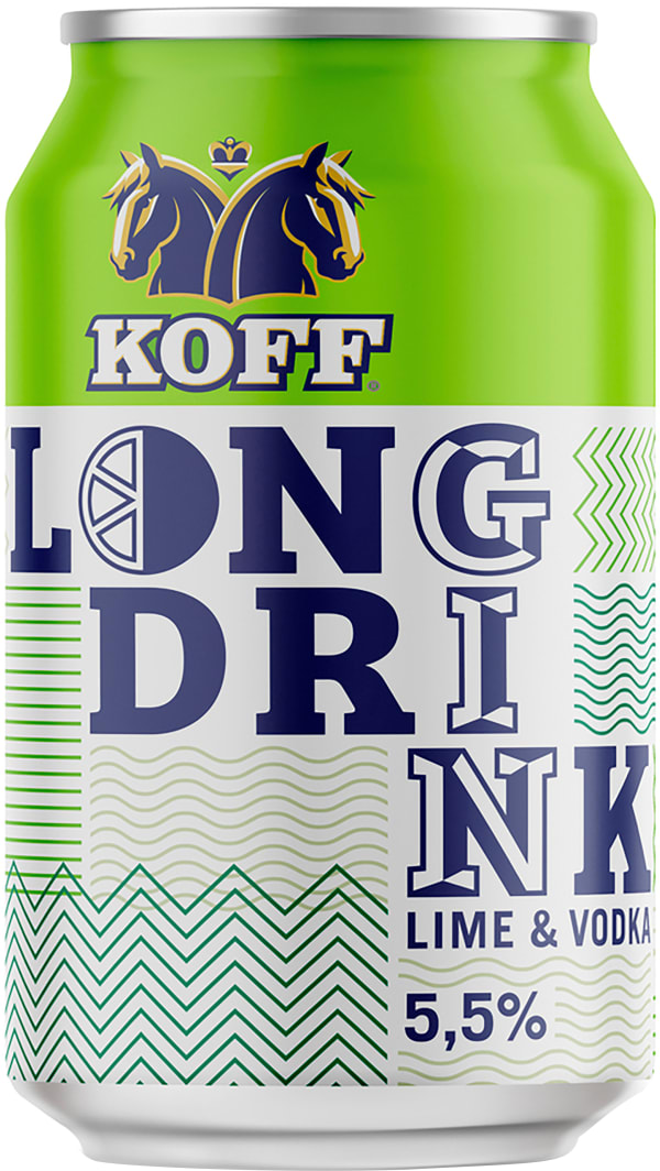 Koff Long Drink Lime & Vodka can