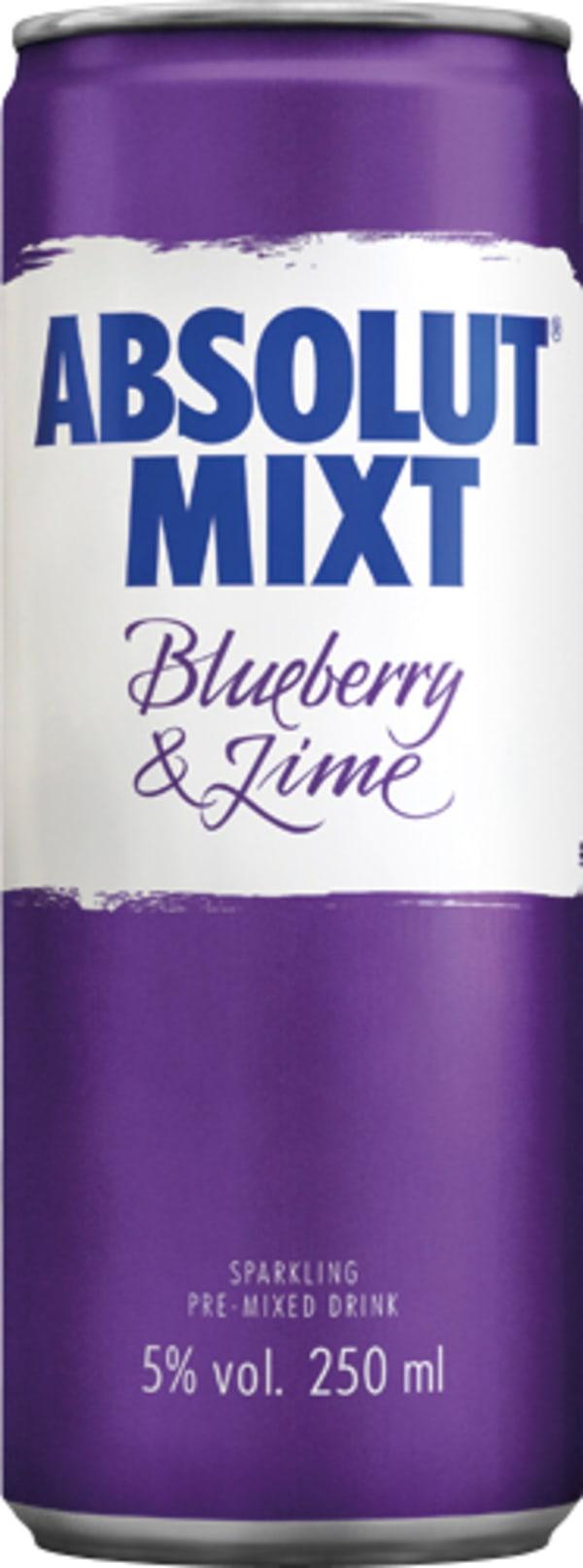 Absolut Mixt Blueberry & Lime tölkki
