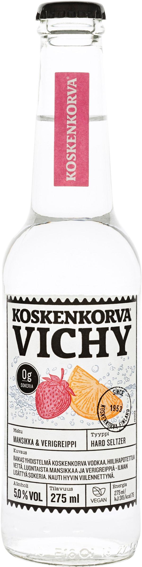 Koskenkorva Vichy Hard Seltzer Mansikka Verigreippi