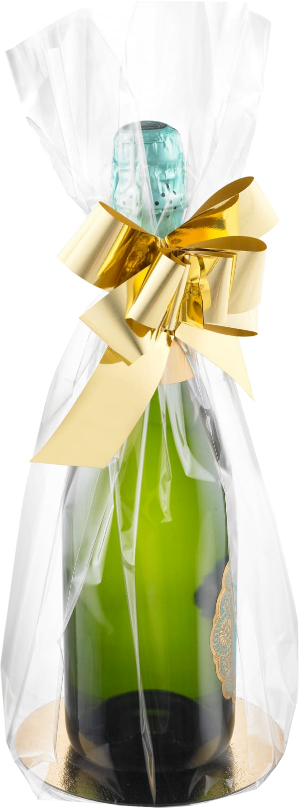 Gift bag with a golden bow