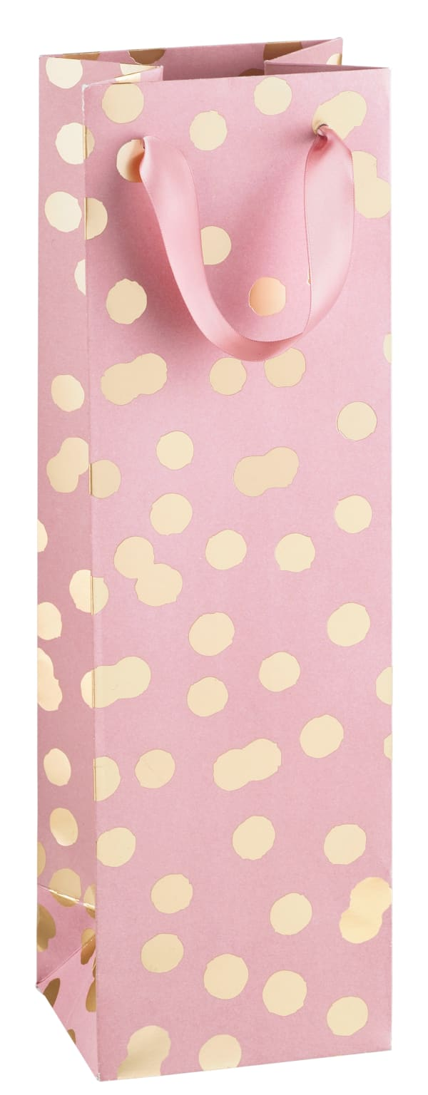 Rose gift bag, gold ball