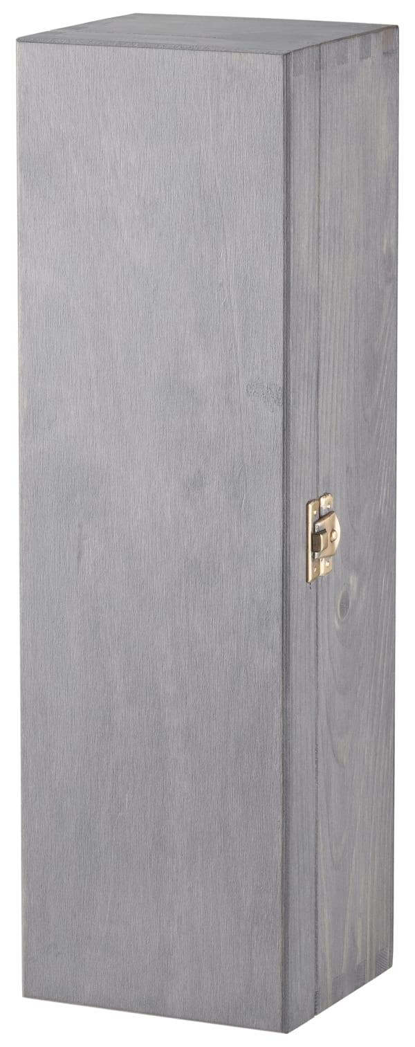 Wooden Box, 1 bottle, grey