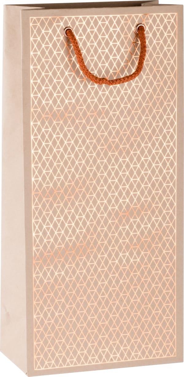 2-bottle gift bag Net, copper