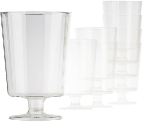 Bioplast glas på fot (8 st.)