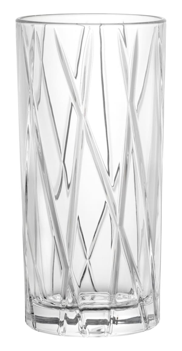 Orrefors City högt glas 4 st.
