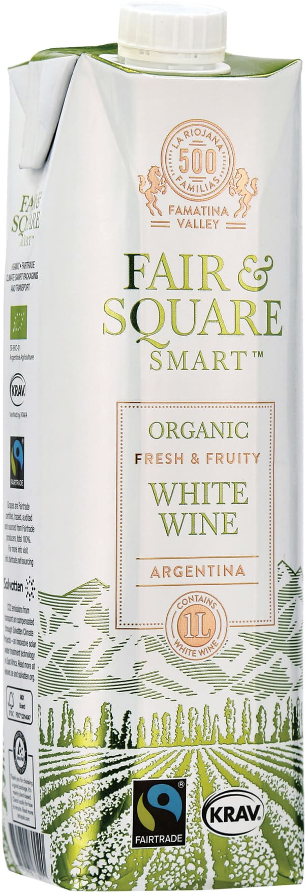 Fair & Square White 2018 kartongförpackning