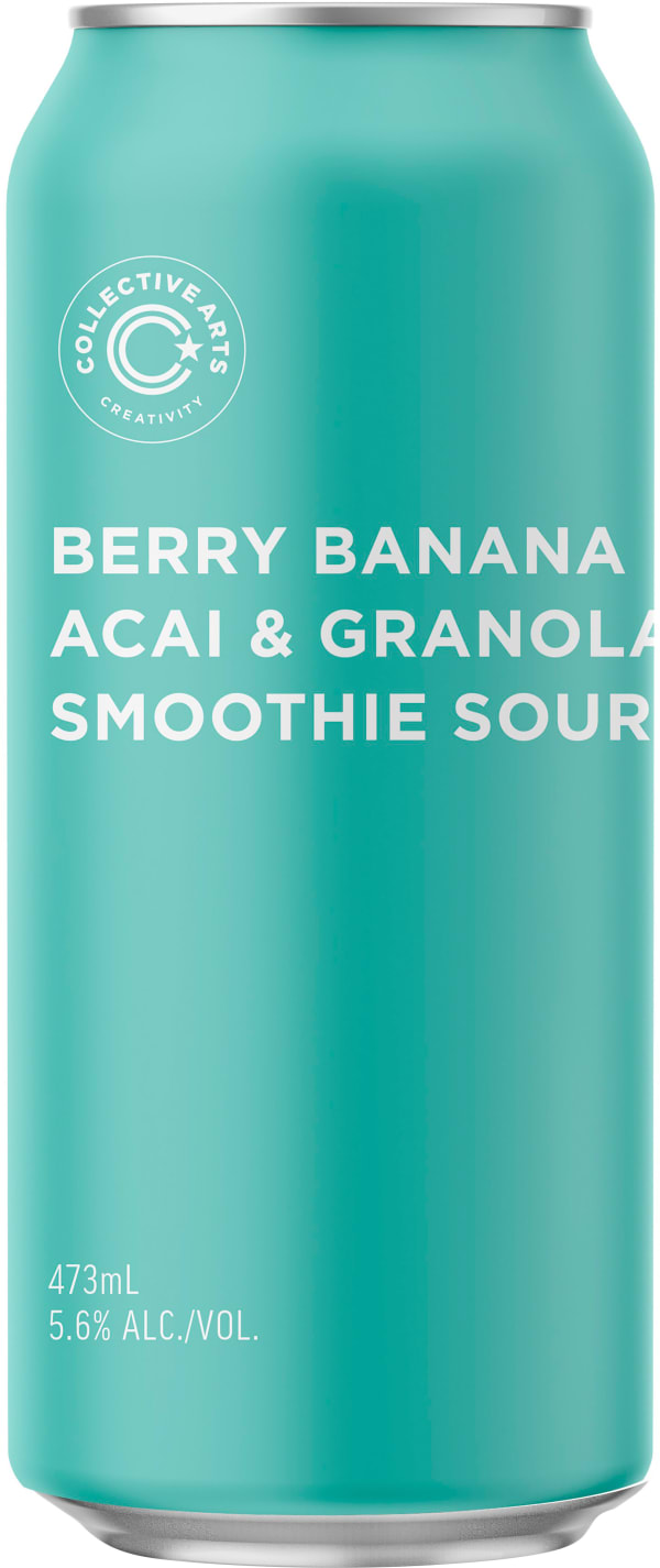 Collective Arts Berry Banana Acai & Granola Smoothie Sour can