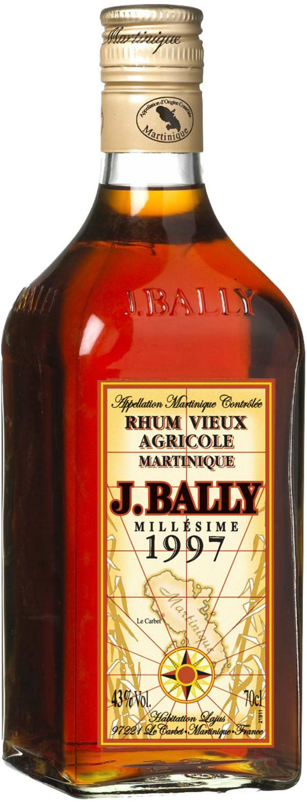 Rhum J.Bally Vieux Agricole Millésime 1997