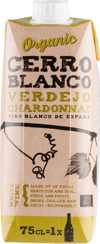 Cerro Blanco Organic Verdejo Chardonnay kartonkitölkki