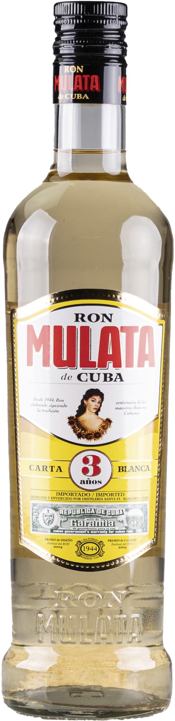 Ron Mulata de Cuba 3 años 40%