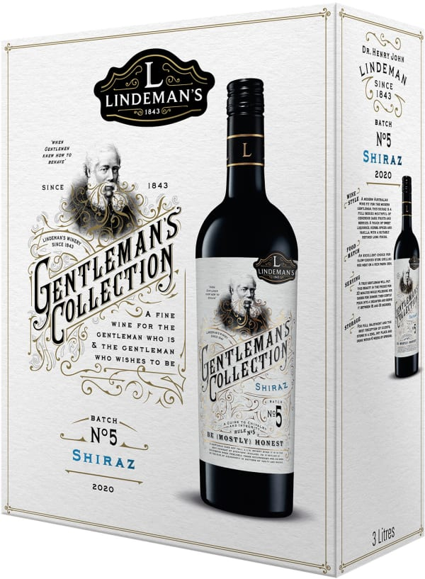 Lindeman's Gentleman's Collection Shiraz 2018 bag-in-box