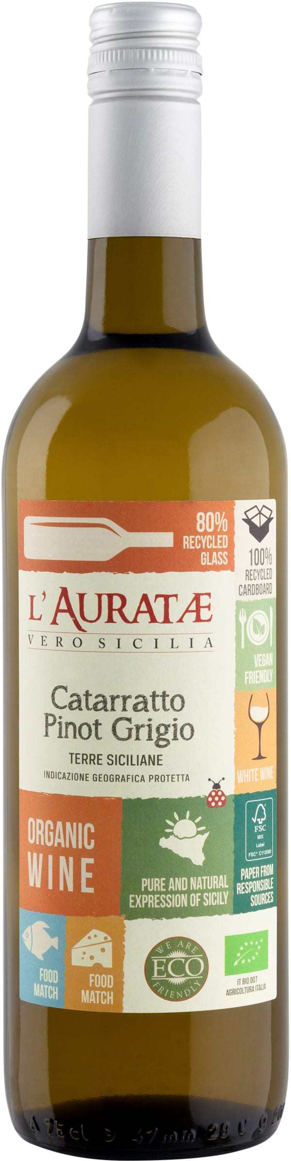 L'Auratae Organic Catarratto Pinot Grigio 2018