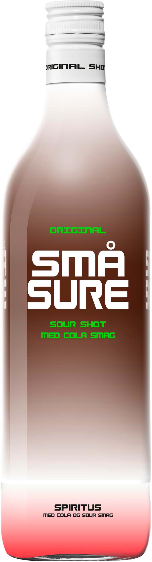 Små Sure Sour Shot Cola muovipullo