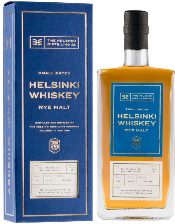 Helsinki Whiskey Release 8 VYS Rye Malt