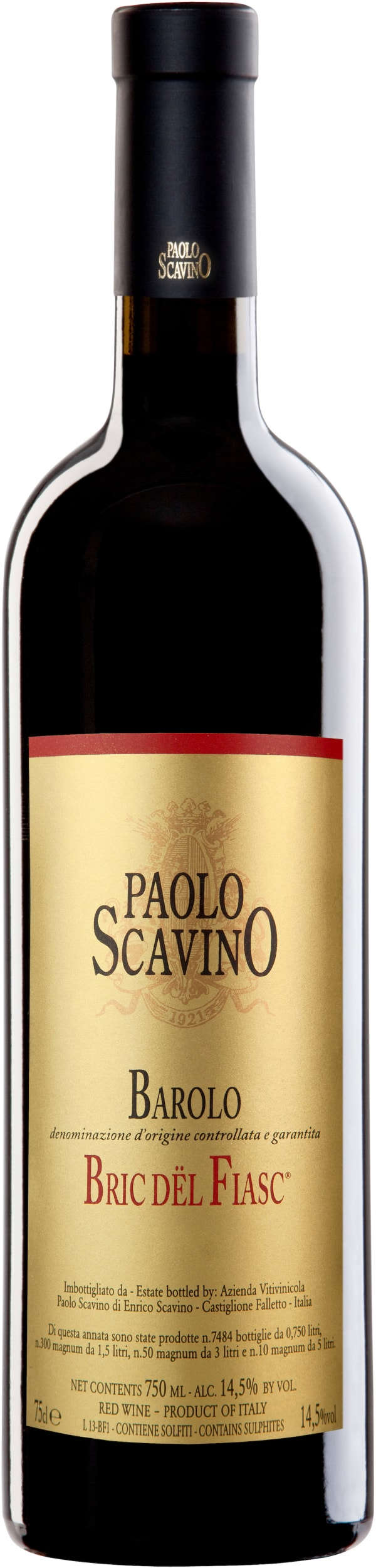 Paolo Scavino Barolo Bric dël Fiasc 2014