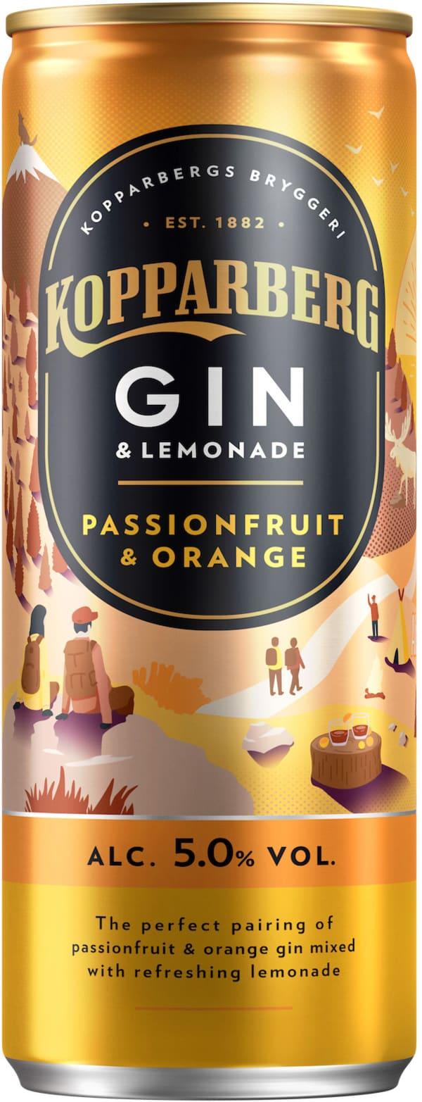 Kopparberg Gin & Lemonade Passionfruit & Orange can