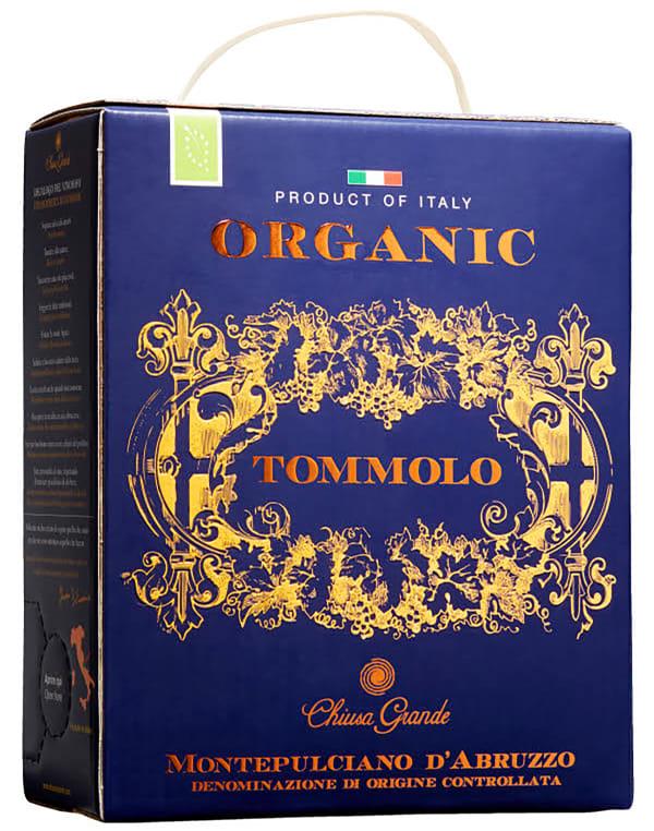 Tommolo Organic Montepulciano d'Abruzzo 2016 lådvin