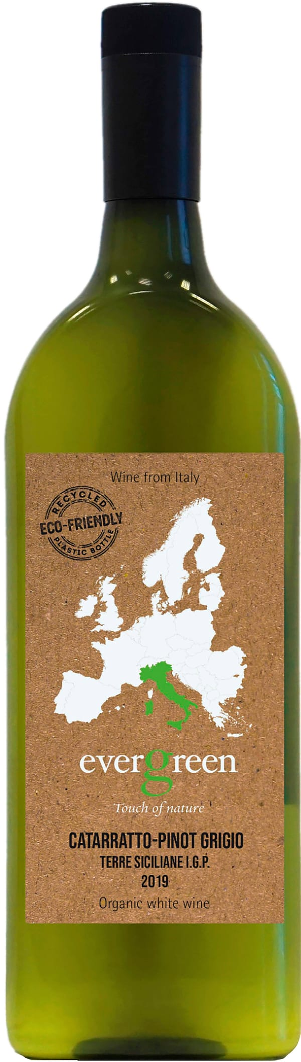 Evergreen Catarratto-Pinot Grigio 2019 plastic bottle