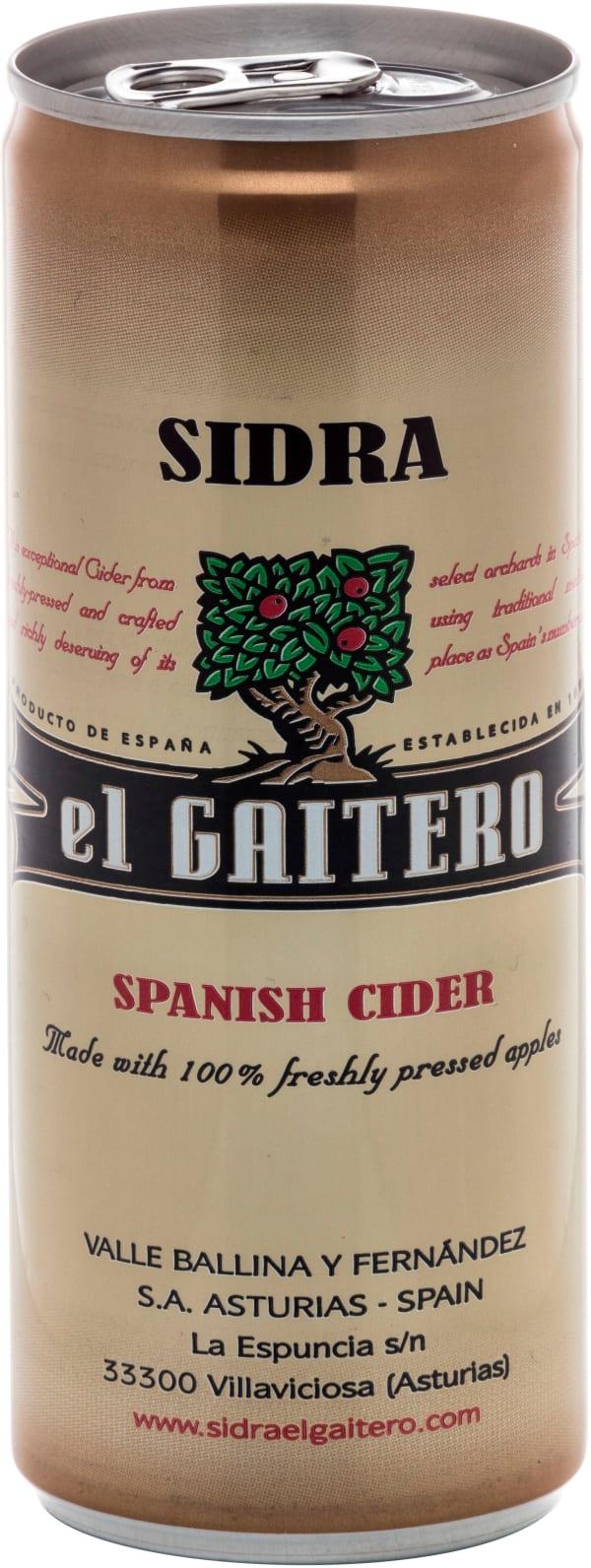 El Gaitero Spanish Cider can