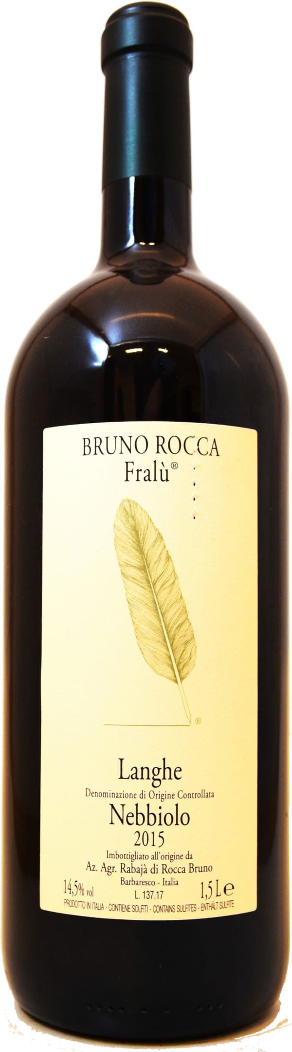 Bruno Rocca Fralu Nebbiolo Magnum 2015