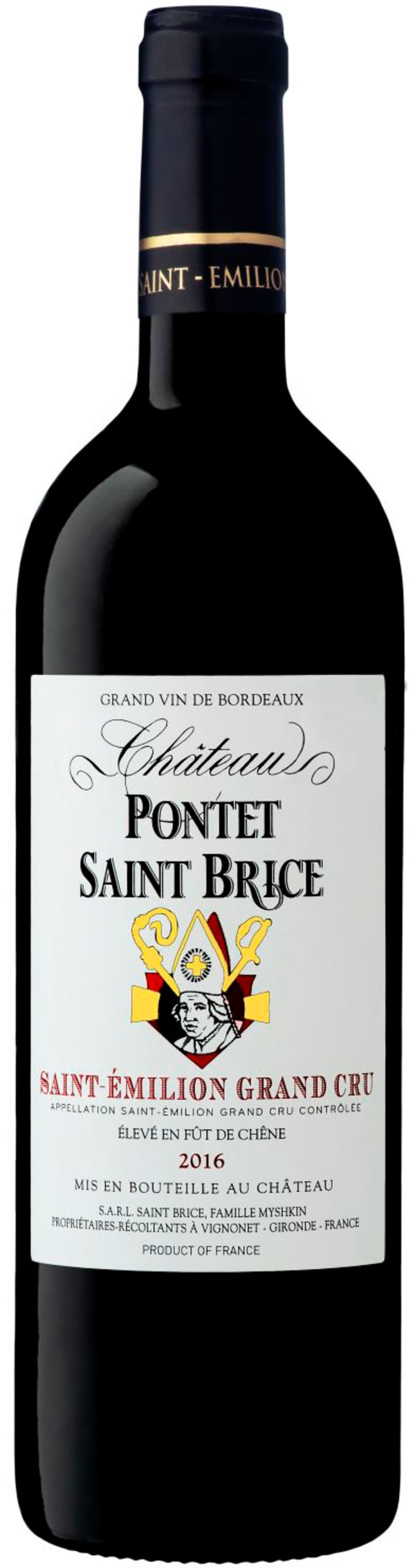 Chateau Pontet Saint Brice 2016