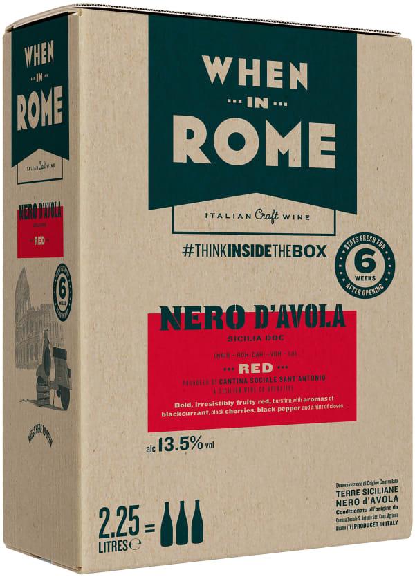 When in Rome Nero d'Avola 2018 lådvin