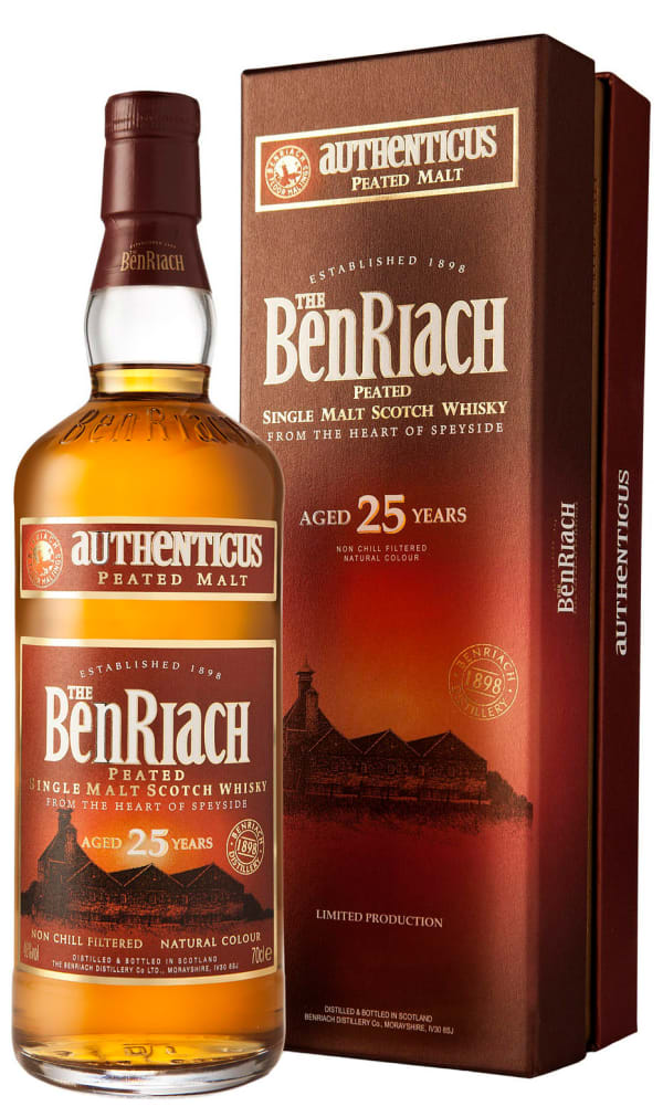 The BenRiach Autehenticus 25 Year Old Peated Single Malt