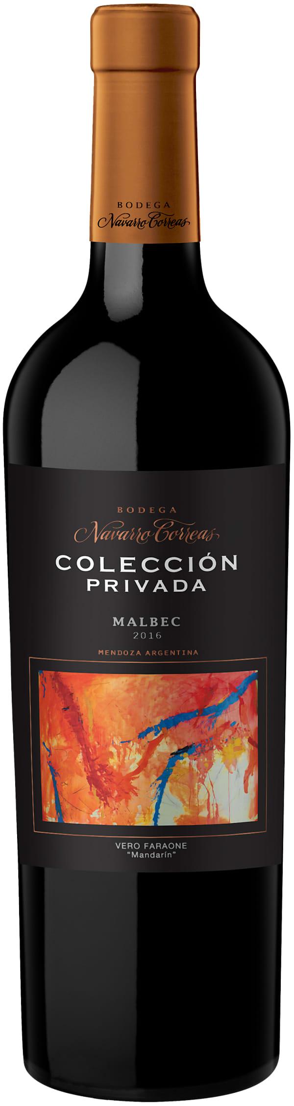 Navarro Correas Colección Privada Malbec 2016