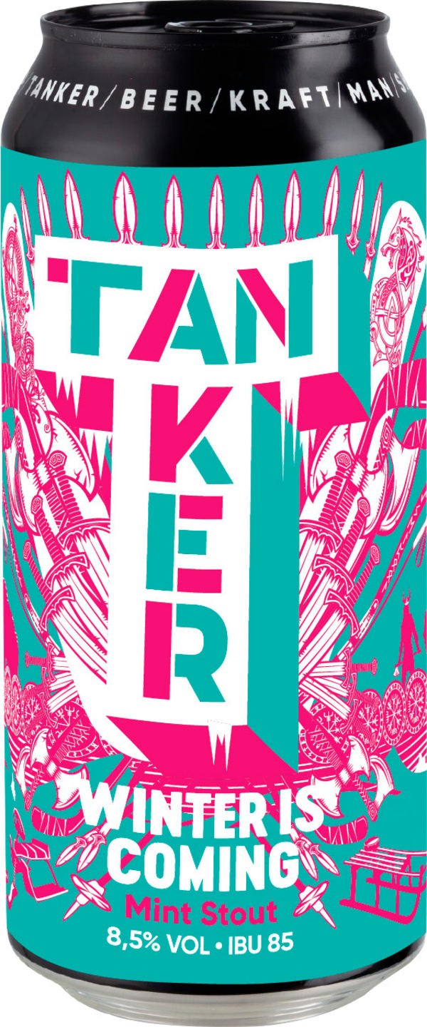 Tanker Winter Is Coming Mint Stout can