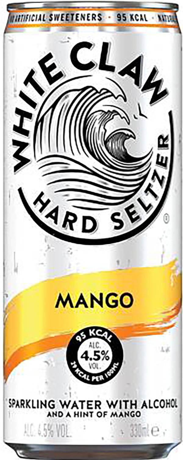 White Claw Hard Seltzer Mango burk
