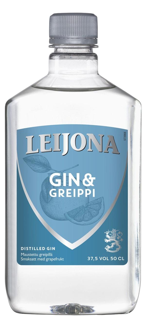 Leijona Greippi Gin plastic bottle