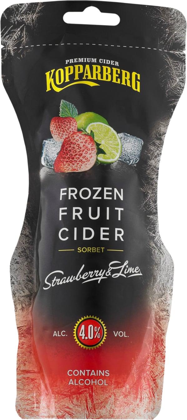 Kopparberg Frozen Fruit Cider Strawberry & Lime siideripussi