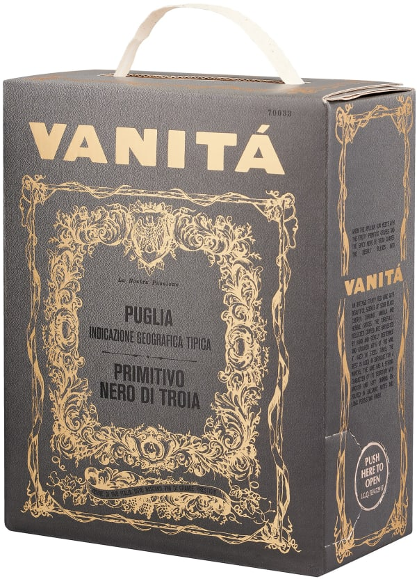 Vanitá Vigneti Del Salento Primitivo Nero di Troia 2018 lådvin