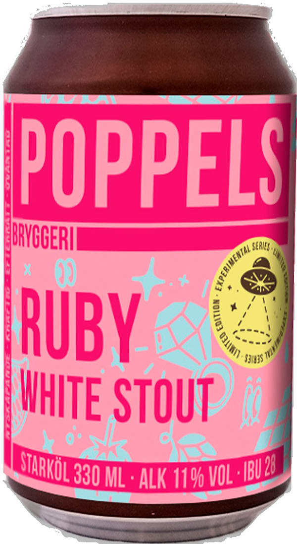 Poppels Ruby White Stout can