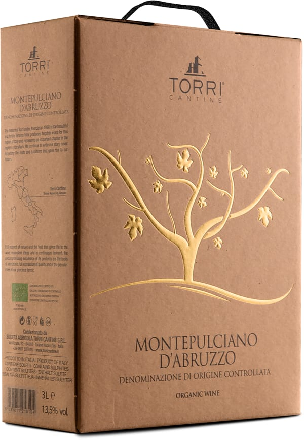 Torri Cantine Montepulciano d'Abruzzo Organic 2018 lådvin