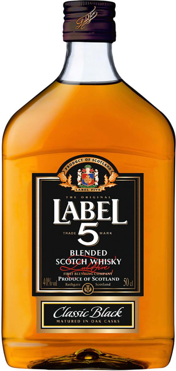 Label 5 plastic bottle