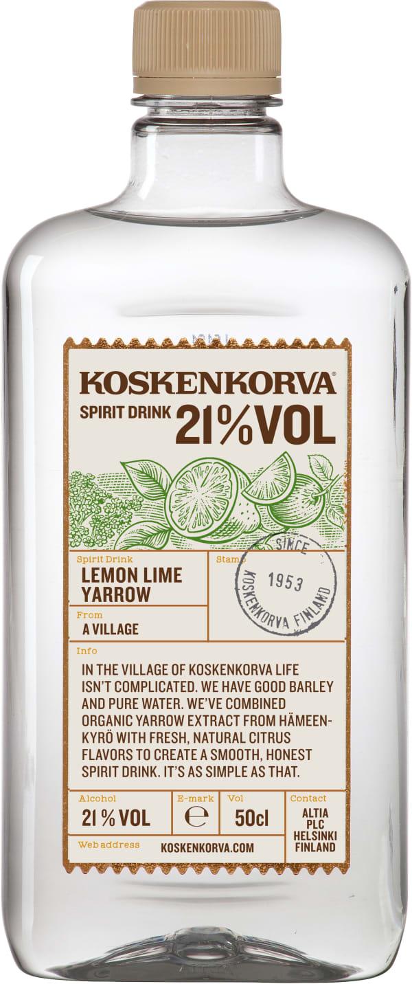 Koskenkorva Lime Lemon Yarrow plastic bottle