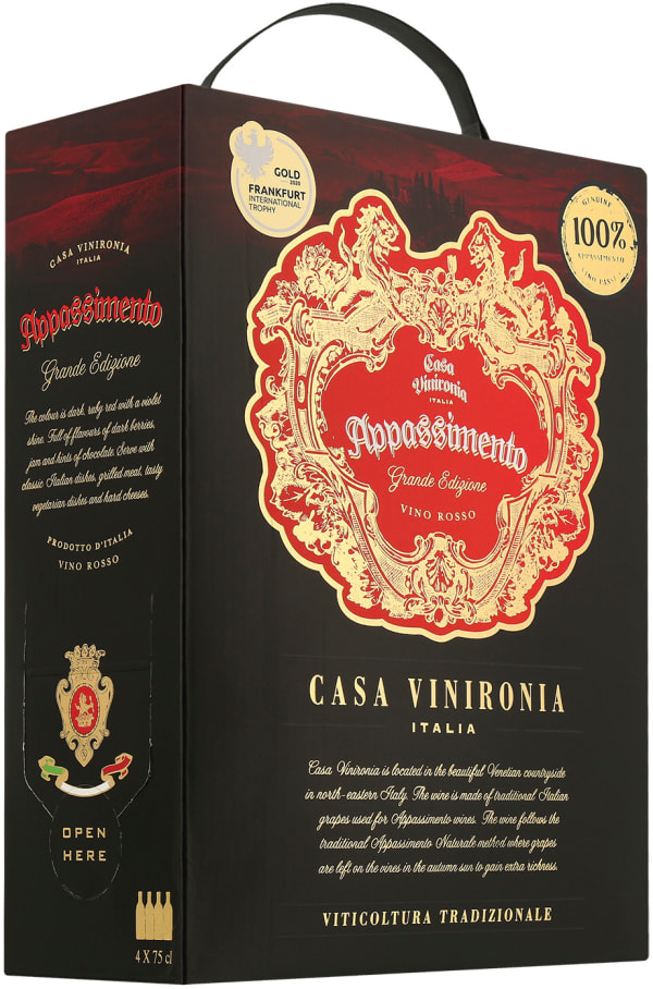 Casa Vinironia Appassimento Edizione Oro 2017 bag-in-box
