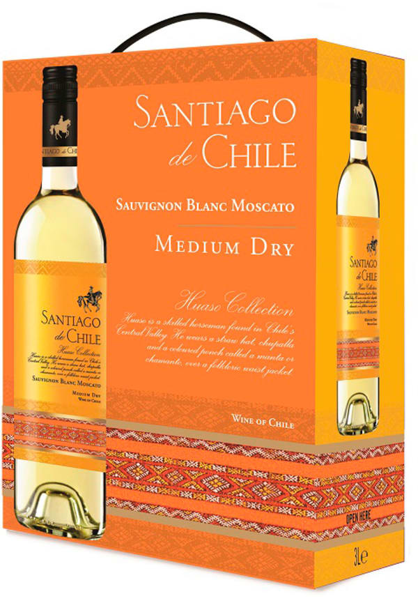 Santiago de Chile Sauvignon Blanc Moscato Medium Dry 2018 lådvin