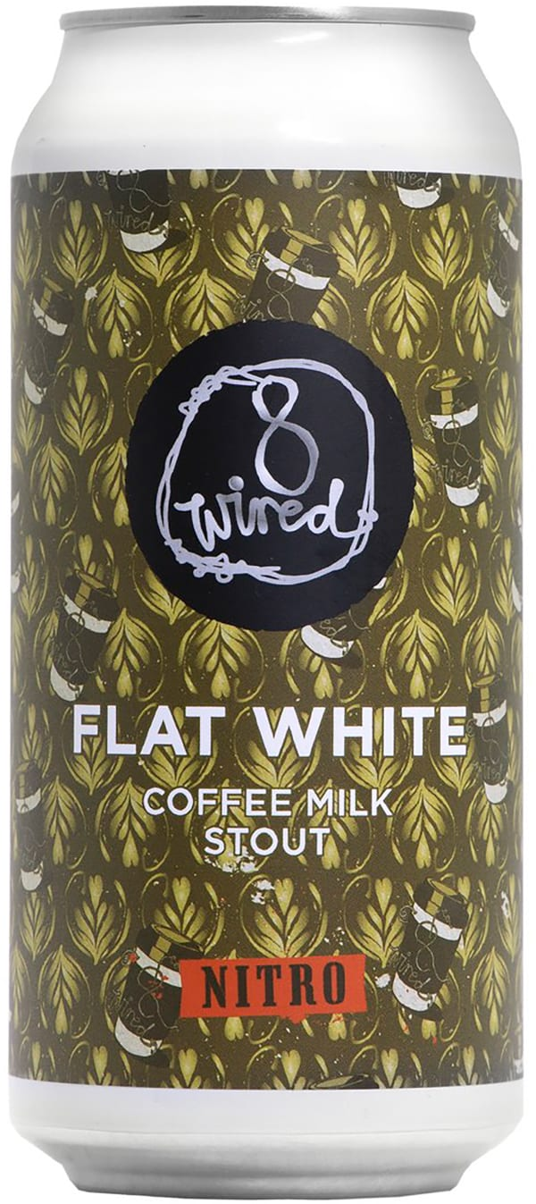 8 Wired Flat White Coffee Milk Stout can