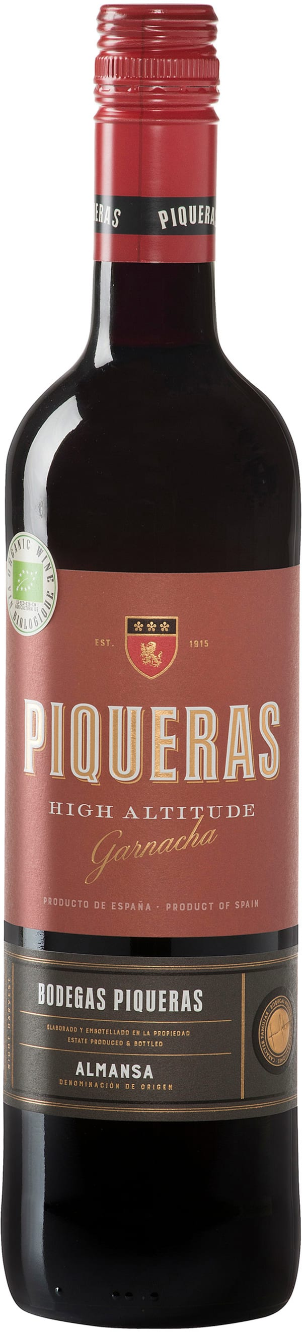 Piqueras High Altitude Garnacha Organic 2017