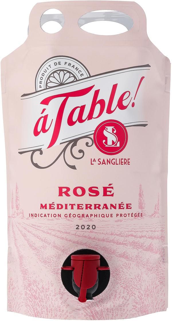 A Table Rosé 2020 wine pouch
