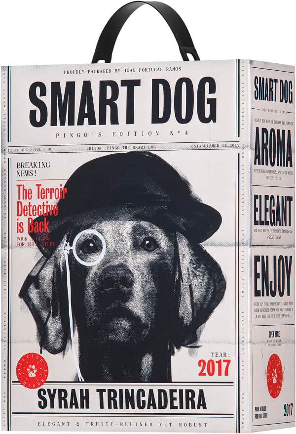 Smart Dog Syrah Trincadeira 2017 lådvin