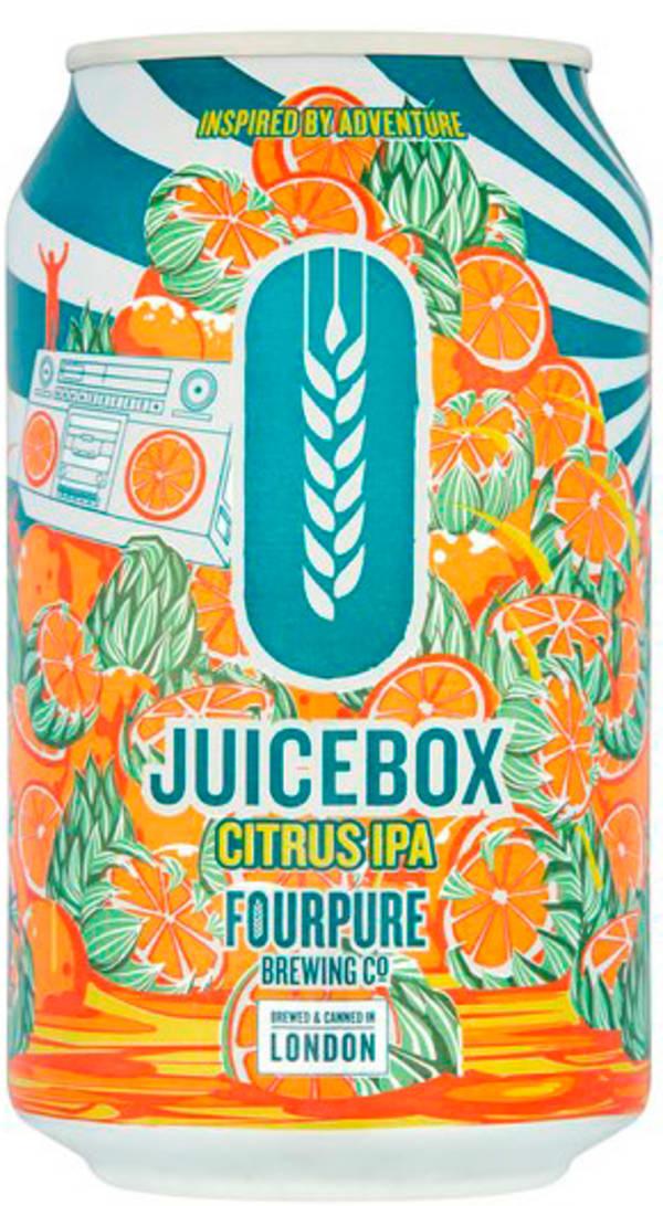 Fourpure Juicebox Citrus IPA burk