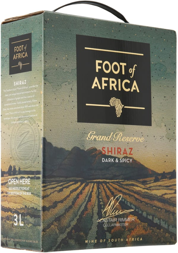 Foot of Africa Grand Reserve Shiraz 2019 lådvin